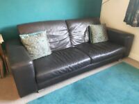DFS Leather Sofa (Brown)