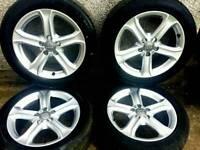 17 inch 5x112 genuine Audi A4 B8 alloy wheels