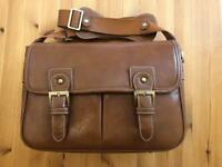 Classic style, real leather camera bag as new