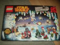 lego starwars advent with ships and figures