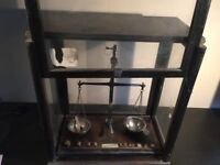 Antique Scales in Wooden Case