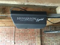Henderson G60 electronic garage door fittings mechanisms and electronics. 4267mm x 2000mm.