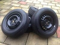"Vw T5 Transporter 16"" Steel Wheels & Continental tyres 215/65/r16c (NEW)"