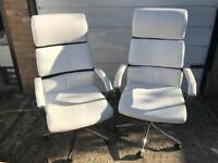 White Office/Desk Chairs (2 available) - Argos Hygena Jasper RRP £143.99 EACH!!