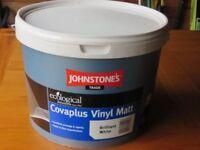 JOHNSTONES TRADE PAINT - COVAPLUS VINYL MATT, BRILLIANT WHITE 10LTRS