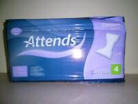 ATTENDS CONTOURS REGULAR INCONTINENCE PADS (Absorption Degree 4, pack of 42)