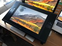 Wacom Cintiq 24HD Interactive pen display with ergo stand and grip pen (stylus).