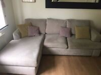 Beautiful DFS 3 seater lounger sofa - 1 year old with cushions