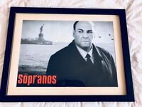 Framed Tony Soprano (The Sopranos) Picture – Extremely Rare & Collectable!