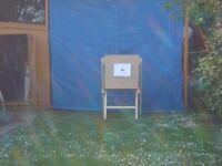 Archery Back stop Netting Blue plus Foam Target and Stand