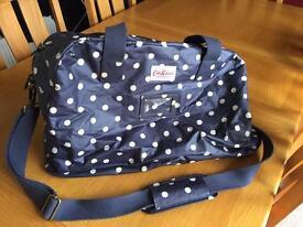 Cath Kidston Navy Blue White Spotty Polka Dot Weekend Bag Hold-all