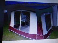 CARAVAN AWNING bradcot porch awning ,pyrmid carpet alloy poles invery good condition