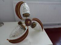 Vintage retro 1950s danish electrolier hanging light lamp