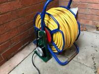Power up electric reel with 100m 8mm microbore hose, wfp, window cleaning