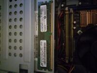 Motherboard & Cooler Core2Duo 2gb Ram