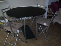 Small Fold Away Kitchen Dining Table And 4 Chairs