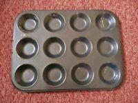 Lakeland My Kitchen 12 Hole Shallow Bun Tin / Mince Pie / Jam Tart / Fairy Cake Tray Baking Bakeware