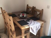dining table and 4 chairs for sale almost new