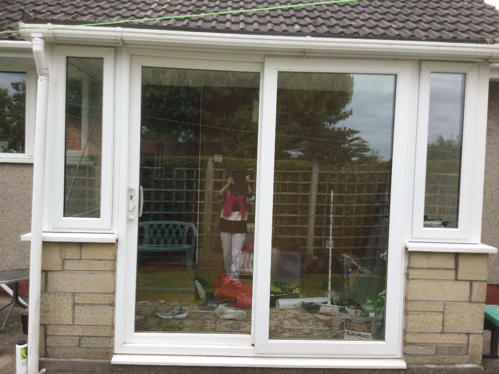 Upvc Windows And A Patio Sliding Door Set White In Longwell Green
