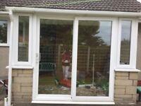 UPVC Windows and a Patio sliding door set white