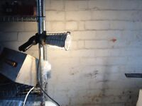 Pair Of Vintage Gripper Industrial Lights Perfect Working Order- delivery or collection