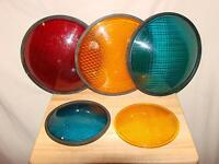 Vintage Traffic Light Lenses ( ONLY).