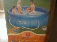 New large filter swimming pool cost £300.00 acept £50.00