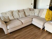 Luxury and Super-comfort 4 seater sofa with a foot stool (Brand - House of Fraser)