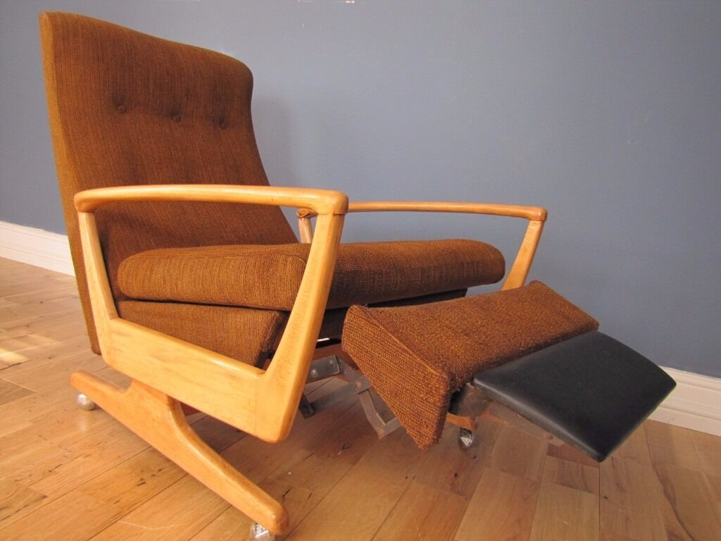 vintage recliner chair retro mid century knoll pk 1020 reclining chair 3252