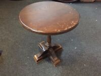 Vintage Small Round Shaped Side Table Coffee Table Wooden /Shabby project Listed for charity