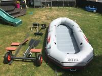 Intex Mariner 4 inflatable boat with motor