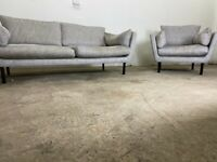 Grey dfs 3 seater & cuddle sofa, couch, suite furniture 🚚WE ARE STILL DELIVERING🚛