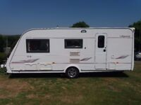 Elddis Odssey 524 4 Berth with Rear Bathroom, Motor Mover and New Porch Awning 2005/6