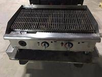 """APW Wyott Champion 36"""" triple burner grill O.N.O"""