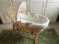 Mamas and Papas Neutral Moses Basket and Stand