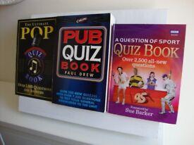 3 QUIZ BOOKS