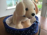 Dog and dog bed build a bear