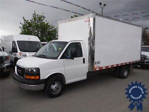 2015 GMC Savana 3500 - 16ft Cube Van - Translucent Roof - CVIP