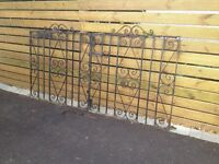 Black Wrought Iron Gates x2