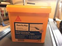 SIKA. Pava fix plus self setting compound for grouting patios. 3 x 15kg tubs