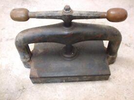 Book Press for sale, antique and rare, £150.00 ono.