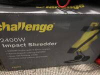 Challenge electric 2400w garden shredder electric used once and still boxed