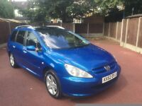 52 PLATE PEUGEOT 307 ESTATE 7 SEATER PANAROMIC ROOF 2.0 HDI DIESEL SERVICE HISTORY NEW MOT