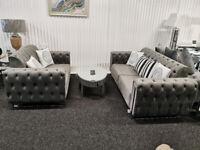 Viola Plush Velvet 3 + 2 Seater Sofa Suite BRAND NEW