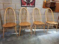4 x Ercol Vintage Quaker Chairs