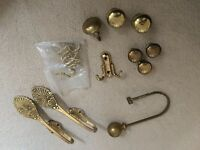 brass knobs and curtain hold backs