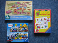 3 x Kids Boxes ELC Magnetic Letter Word Game/Thomas Puzzles/Letterland(3,4,8yrs)