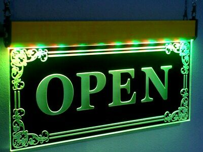Led Open Signs Bar Neon Light  Bright Animated Flashing Color Pub BUSINESS OPEN