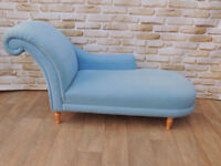 Laura Ashley pale blue chaise lounge heavy duty (Delivery)
