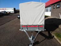Car Trailer Single Axle 263 cm x 125 cm 750 kg with canvas cover H 110cm